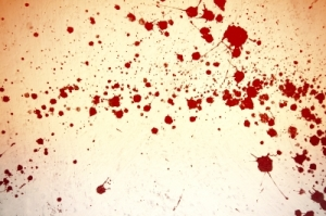 Blood spatter stains are such a chore to clean!