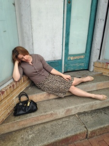 In this picture, Miss E demonstrates the don'ts of post-apocalyptic napping.